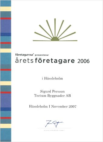 Årets företagare, 2006
