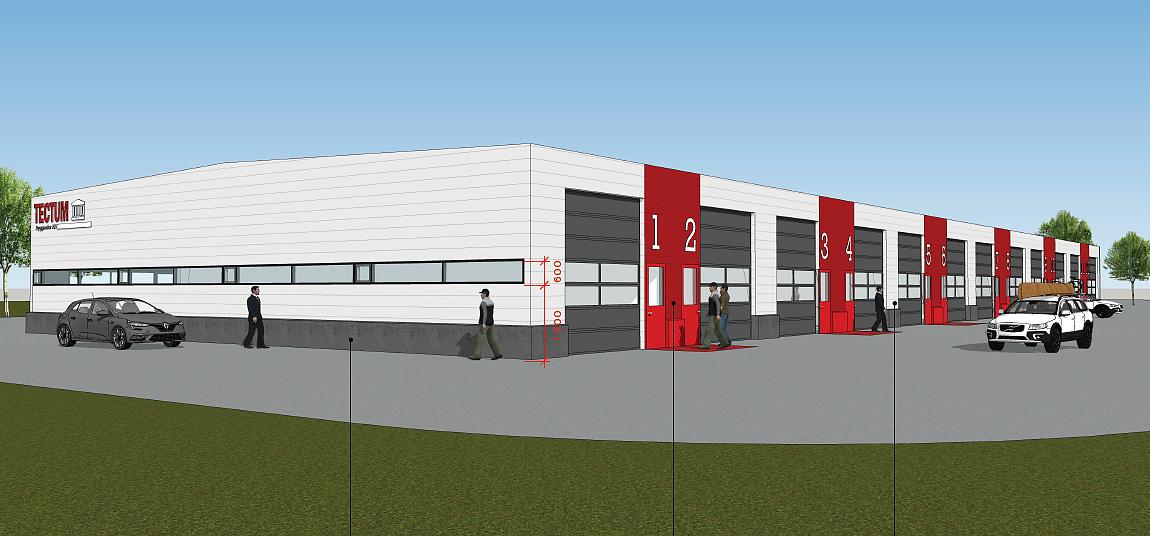 Tectum Fastigheter - nya kontorslokaler skiss